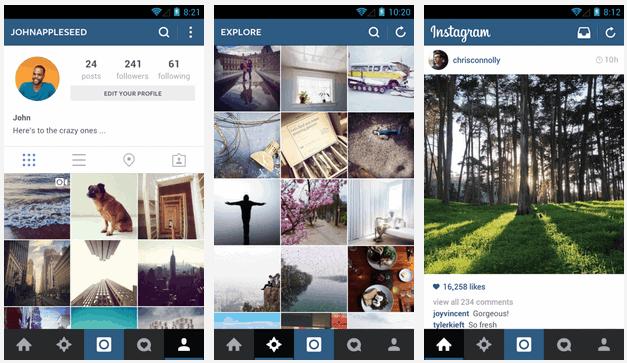 "Instagram Updates to look Less ""iOS-ish"""
