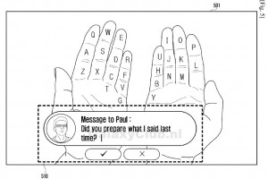 Samsung Galaxy Glass Projects a Virtual Keyboard on Your Hands