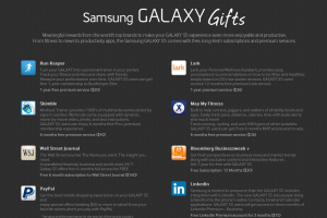 Samsung Galaxy Gifts Brings $500 of Premium Apps for Galaxy S5 Owners