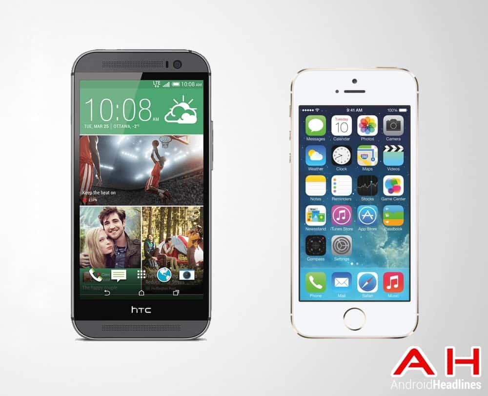 HTC One Vs Apple iPhone 5s