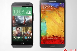 Android Phone Comparisons: HTC One M8 vs Samsung Galaxy Note 3