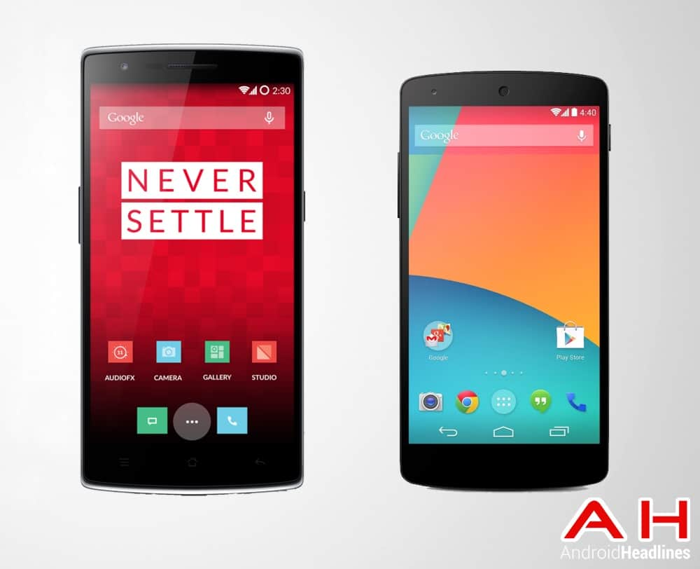 One Plus One Vs LG Google Nexus 5