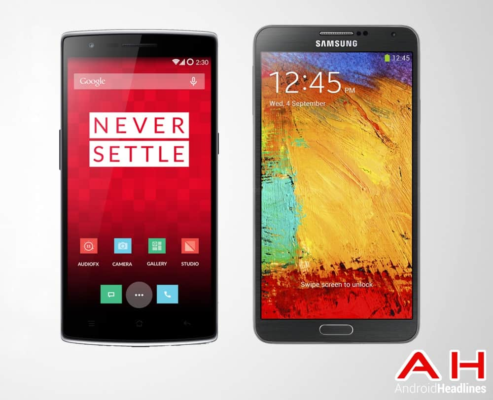 One Plus One Vs Samsung Galaxy Note 3
