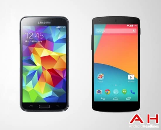 Samsung-Galaxy-S5-Vs-LG-Google-Nexus-5