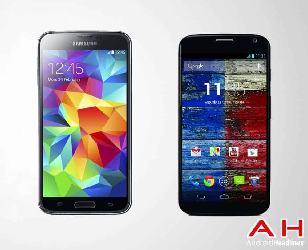 Samsung Galaxy S5 Vs Motorola Moto X