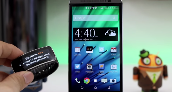 Samsung's Gear Fit Will Work With the HTC One M7 and M8 By