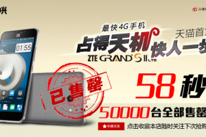 ZTE Grand S II LTE Sells Out in 58 Seconds, Only 50,000 Units on Sale