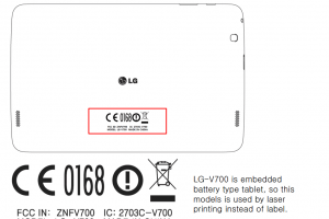 LG Submits Two New Tablets To The FCC With The V400 And The V700