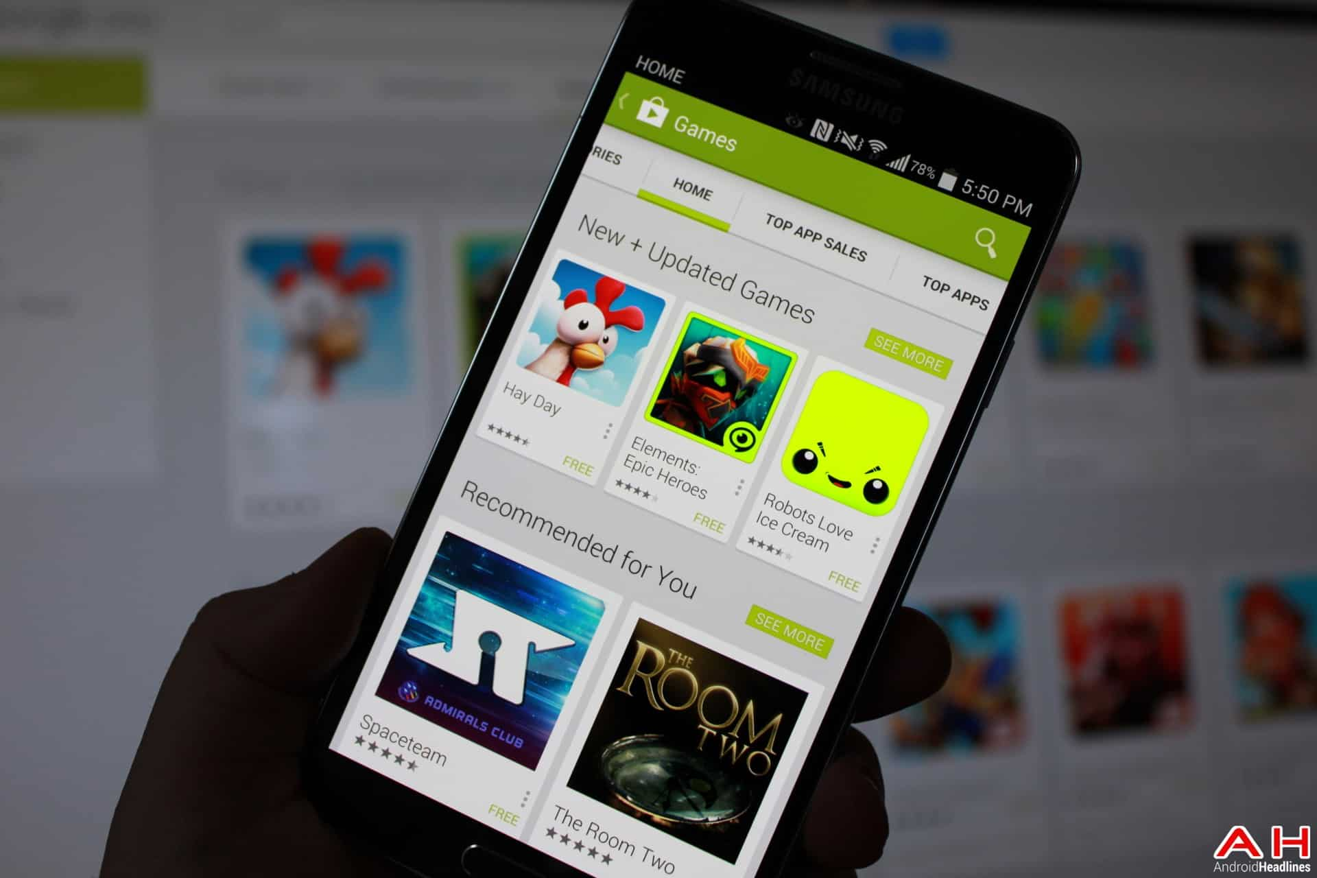 AH Google Play App Store Game of the week top 10 games android 1.5