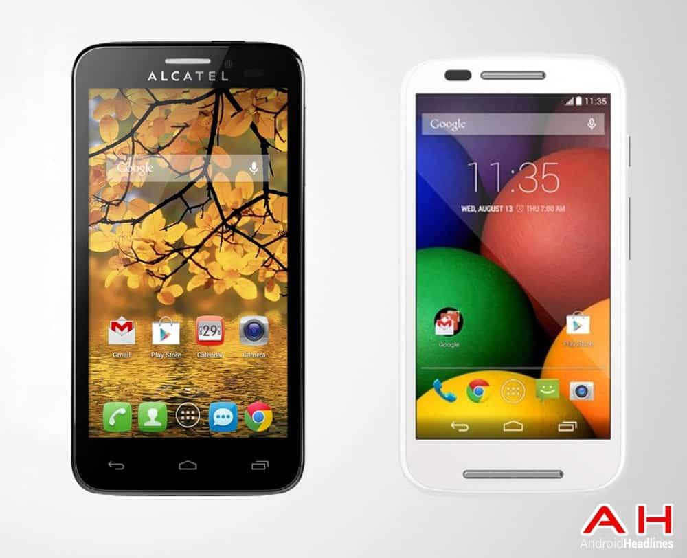 AH Moto E vs Alcatel One Touch Fierce