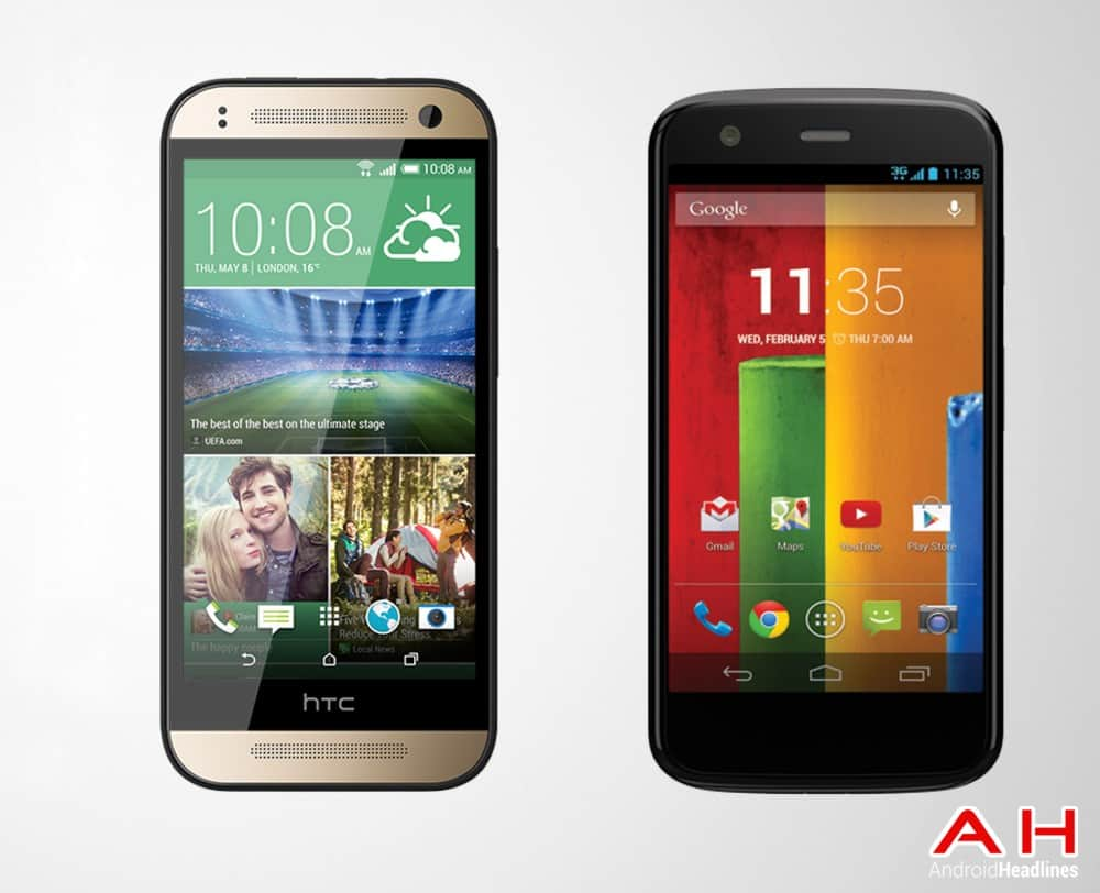 AH Moto G vs HTC ONE Mini 2 M8