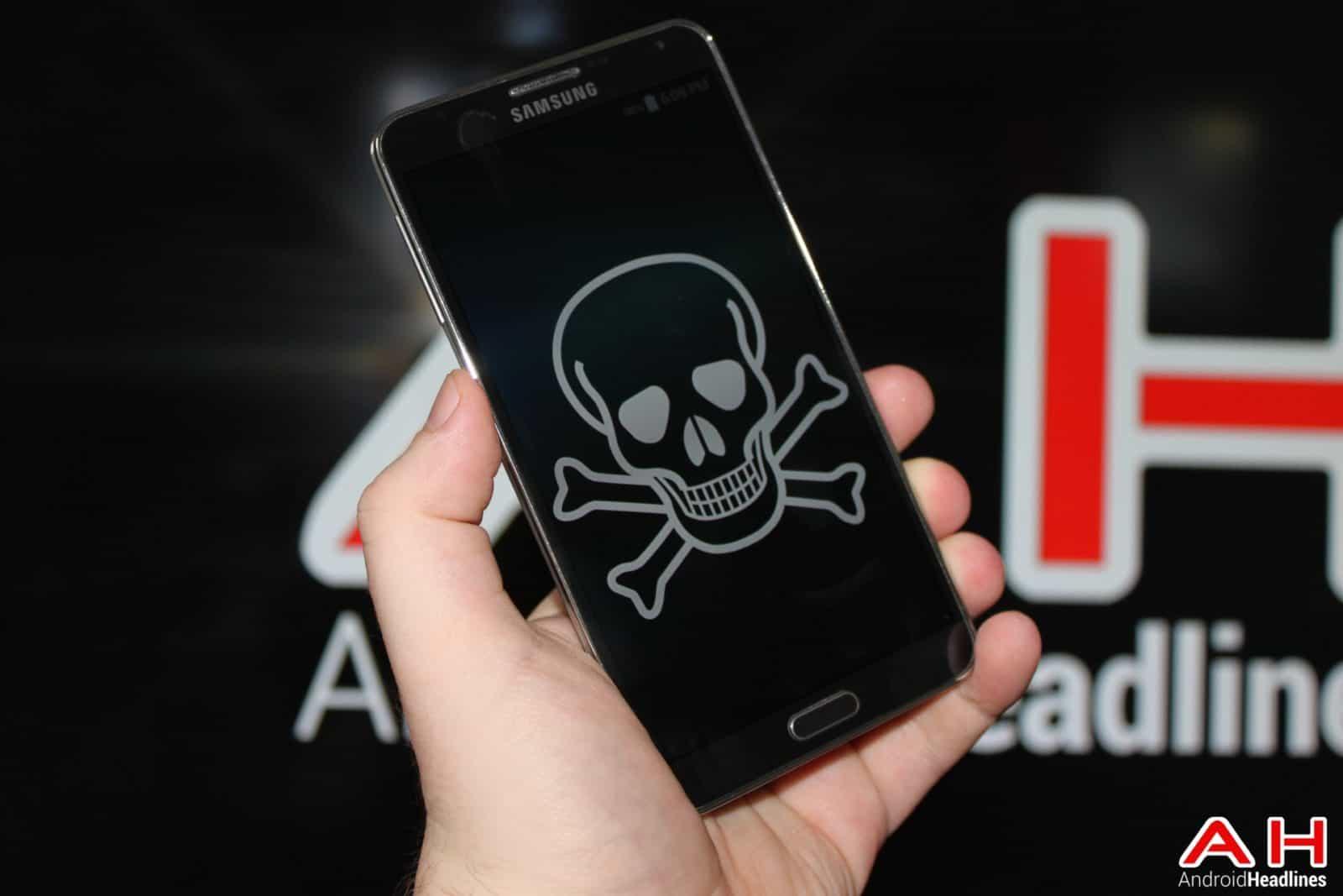 AH Virus Malware Piracy Skull Death Samsung logo 1.0