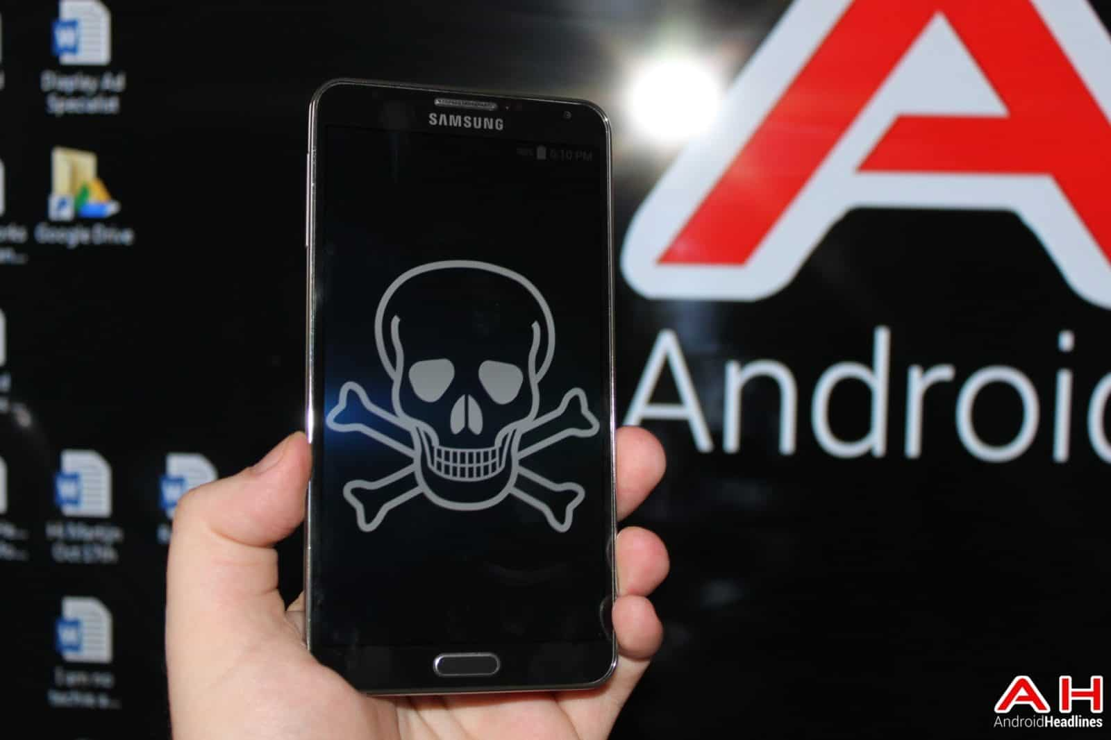 AH Virus Malware Piracy Skull Death Samsung logo 1.1