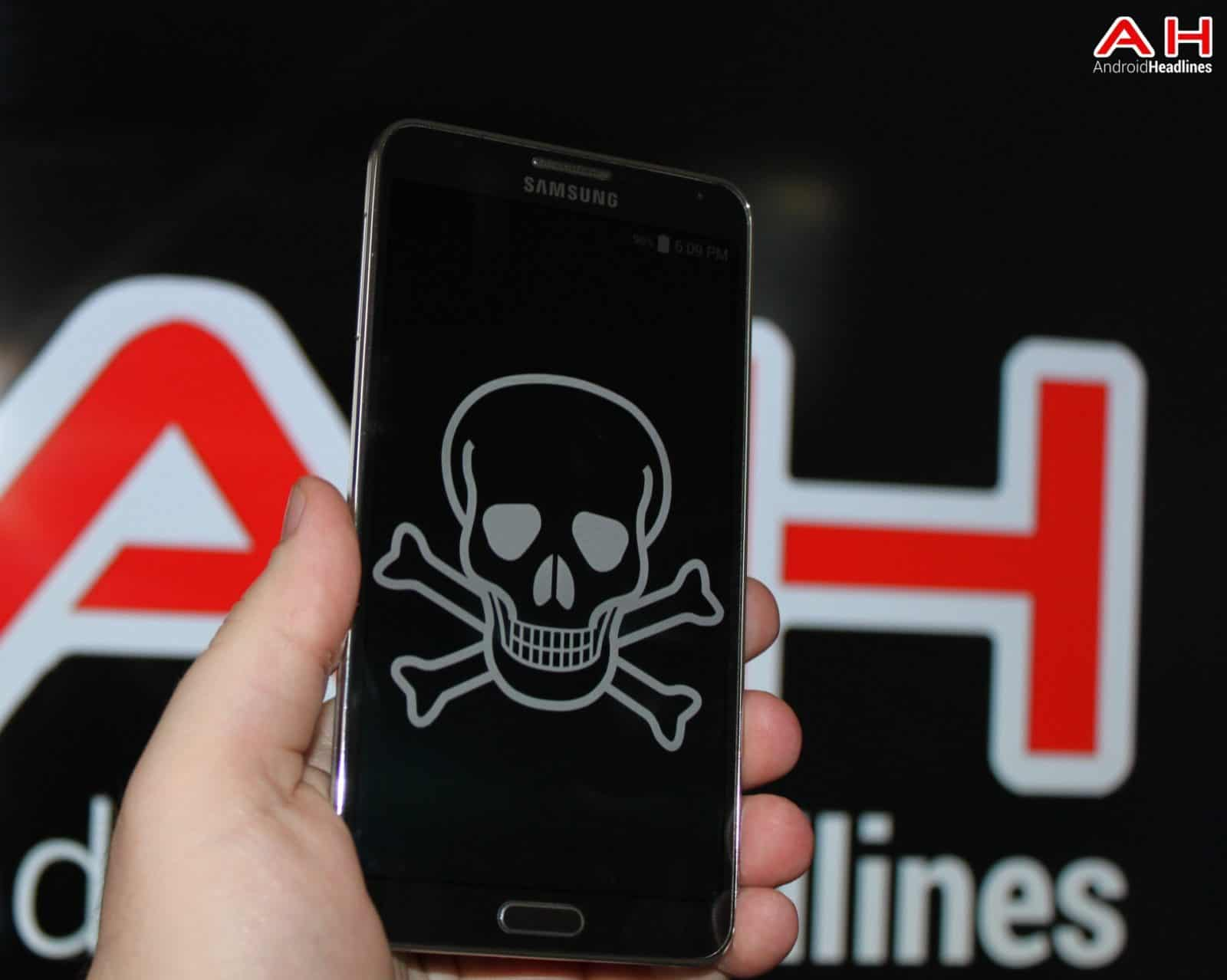 AH Virus Malware Piracy Skull Death Samsung logo 1.2