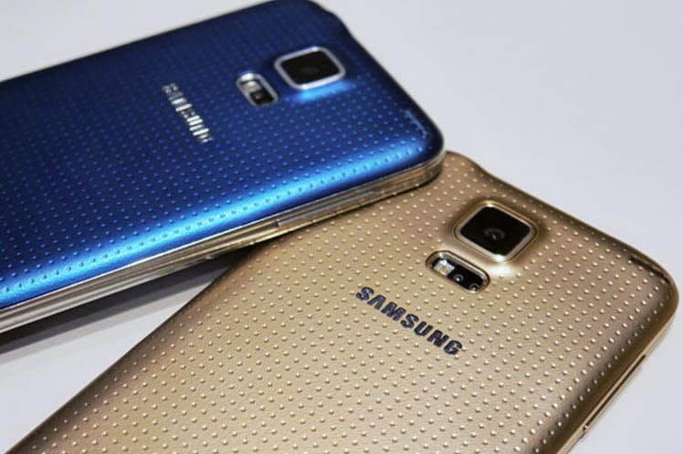 Galaxy S5 Blue and Gold