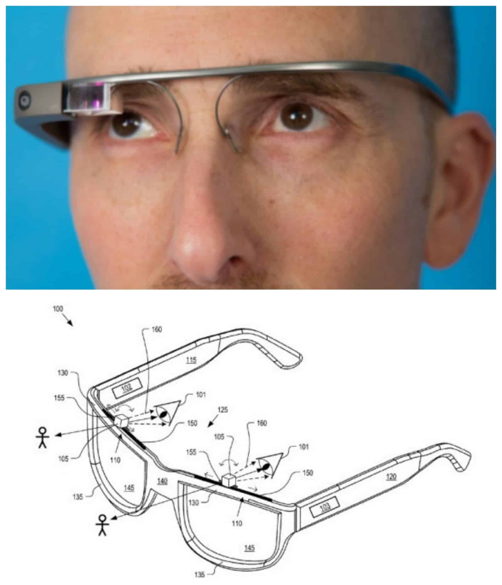 Google Glass Old and New Collage