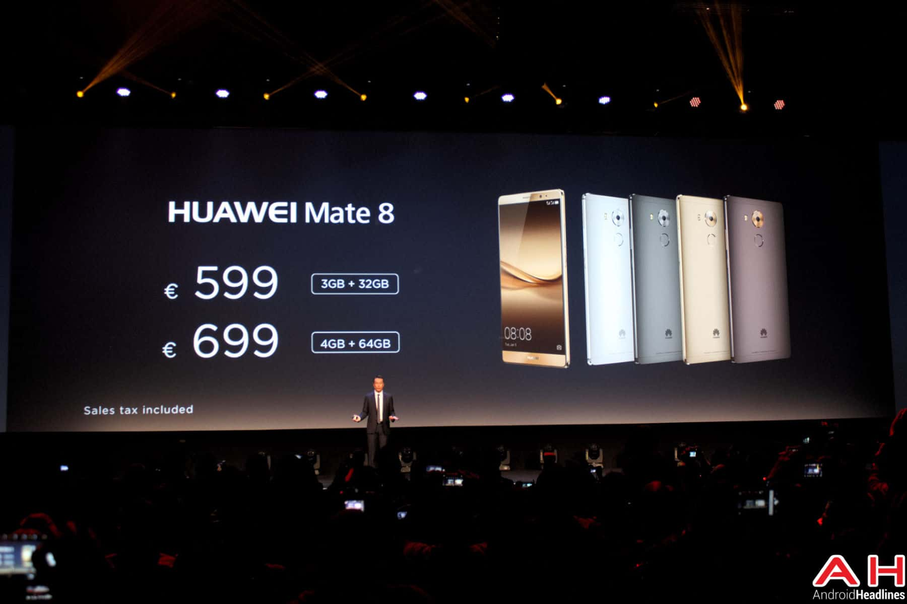 Huawei CES Mate 8 Pricing AH 2