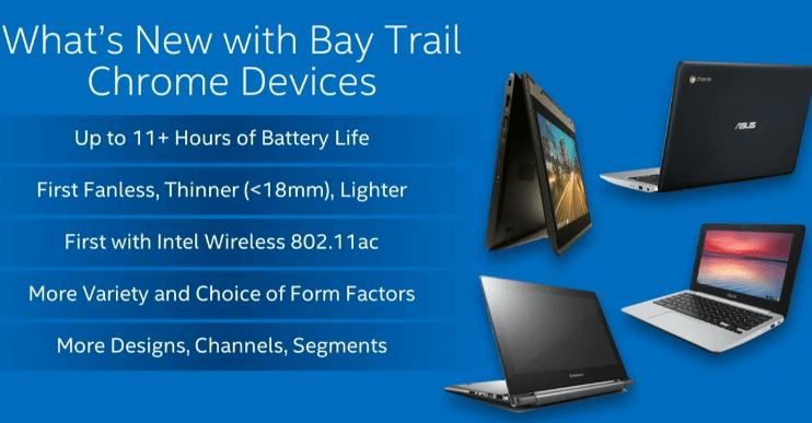 Intel Bay Trail Chromebooks