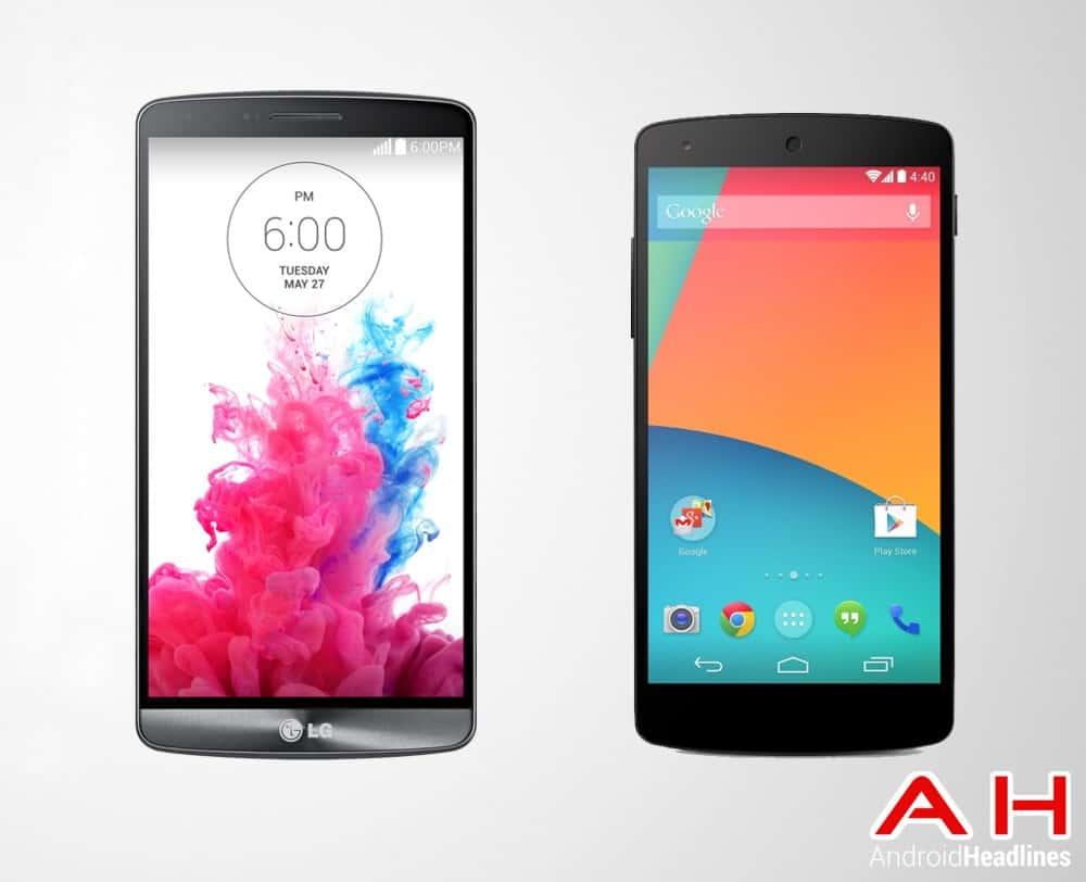 LG G3 Vs LG Google Nexus 5