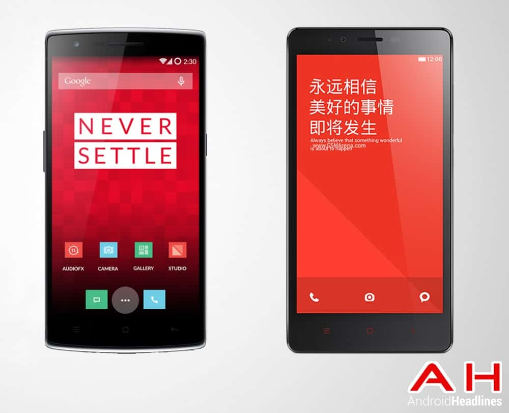 One Plus One Vs Xiaomi Note