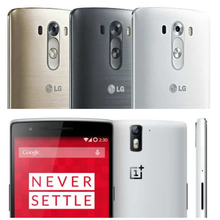 OnePlus One and LG G3 Collage