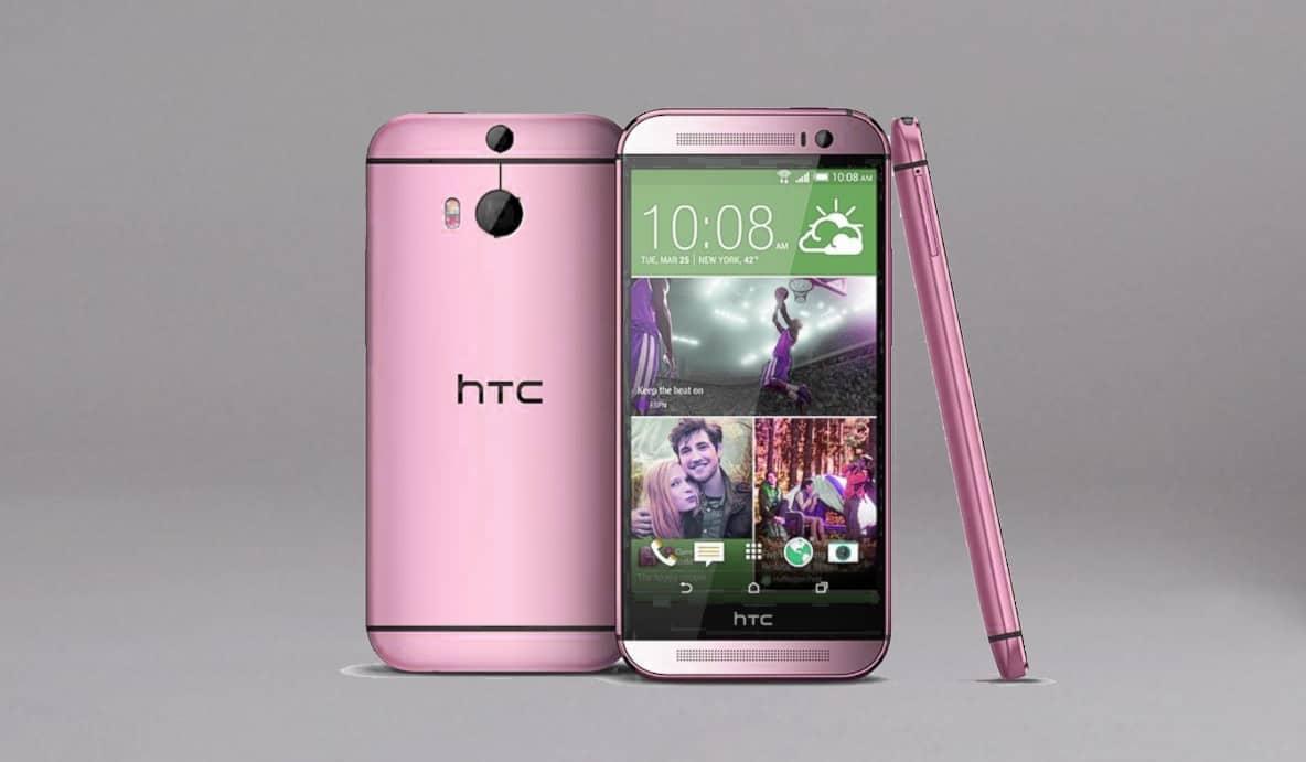 Pink HTC One Mockup