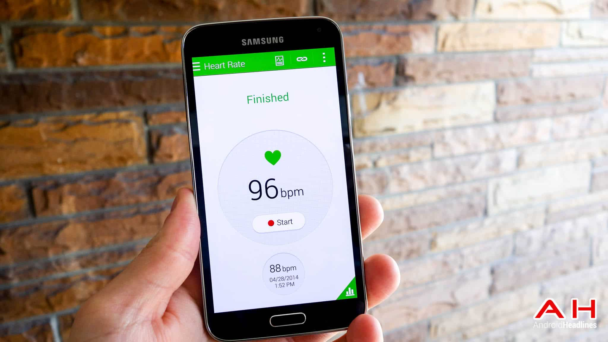 Samsung Galaxy S5 S Health Heart Rate AH 2