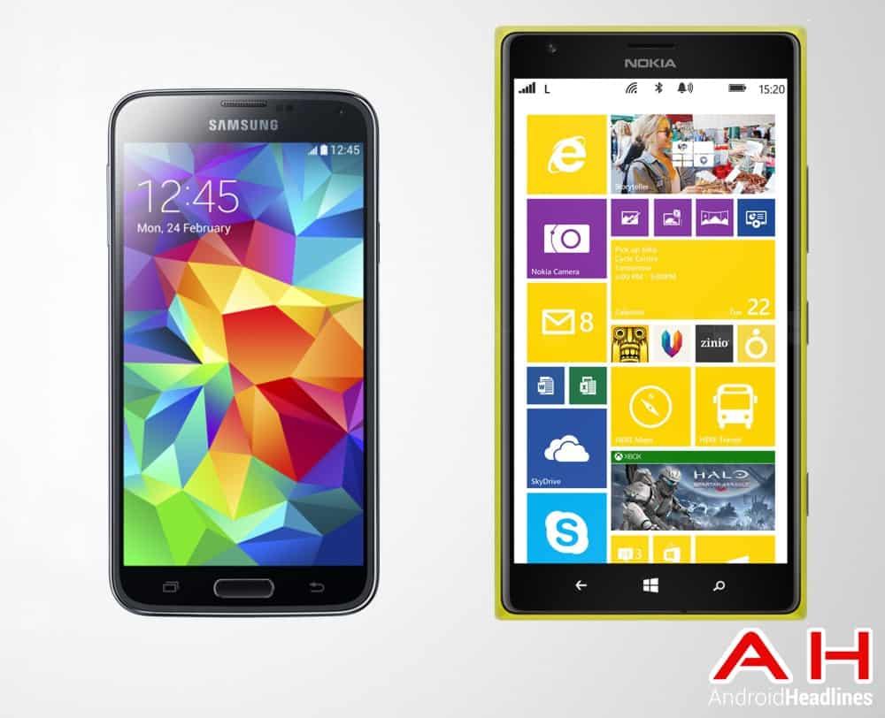 Samsung Galaxy S5 Vs Nokia Lumia 1520