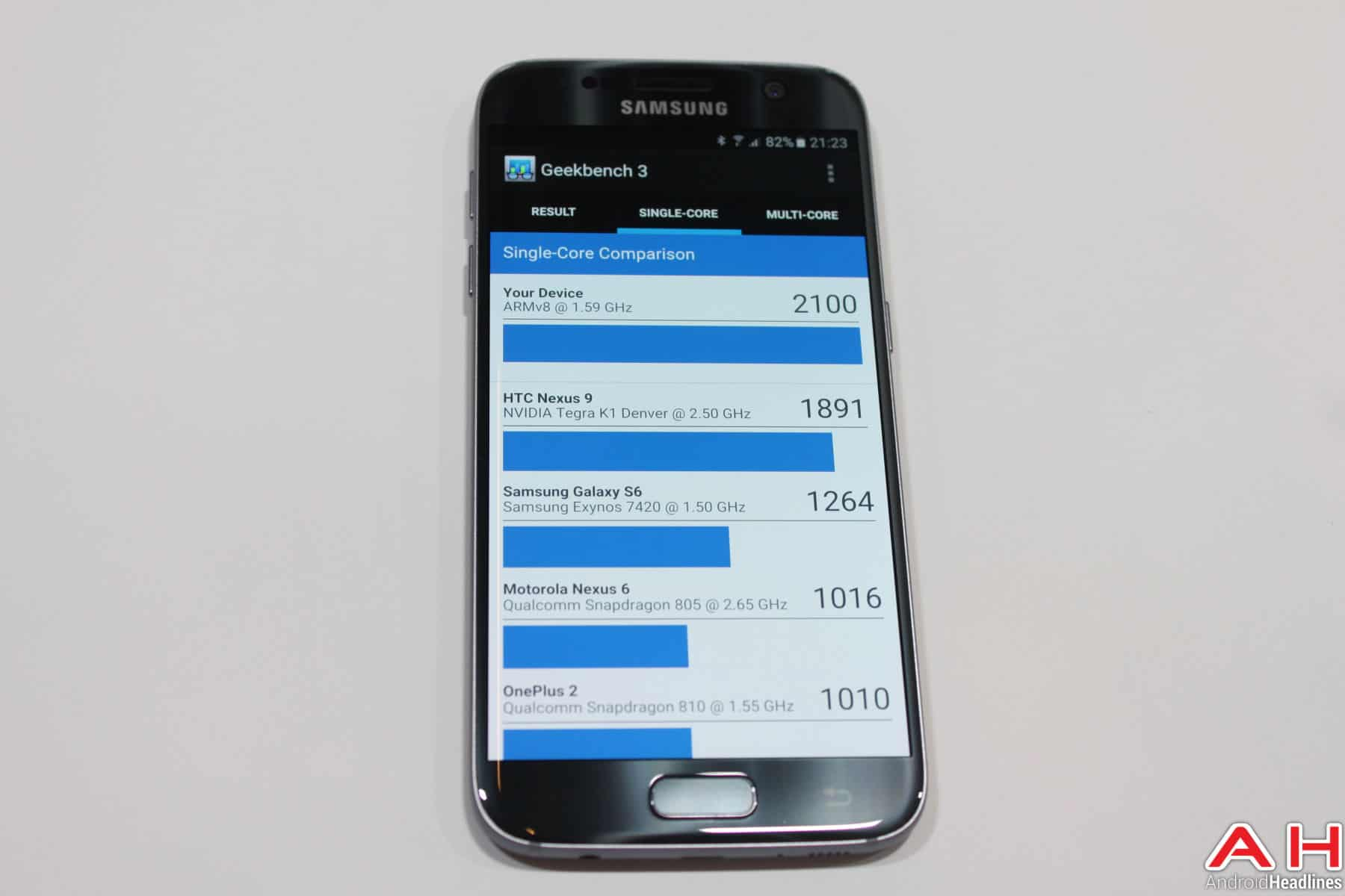 Samsung Galaxy S7 Benchmark Geekbench 2