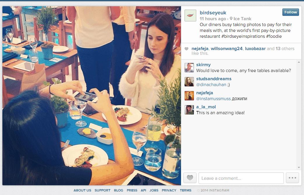 ¿Comida gratis gracias a Instagram? Ve a Londres
