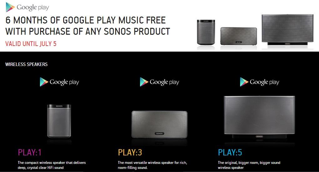 sonos google play ah