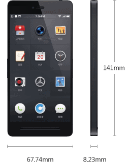 specification phone size