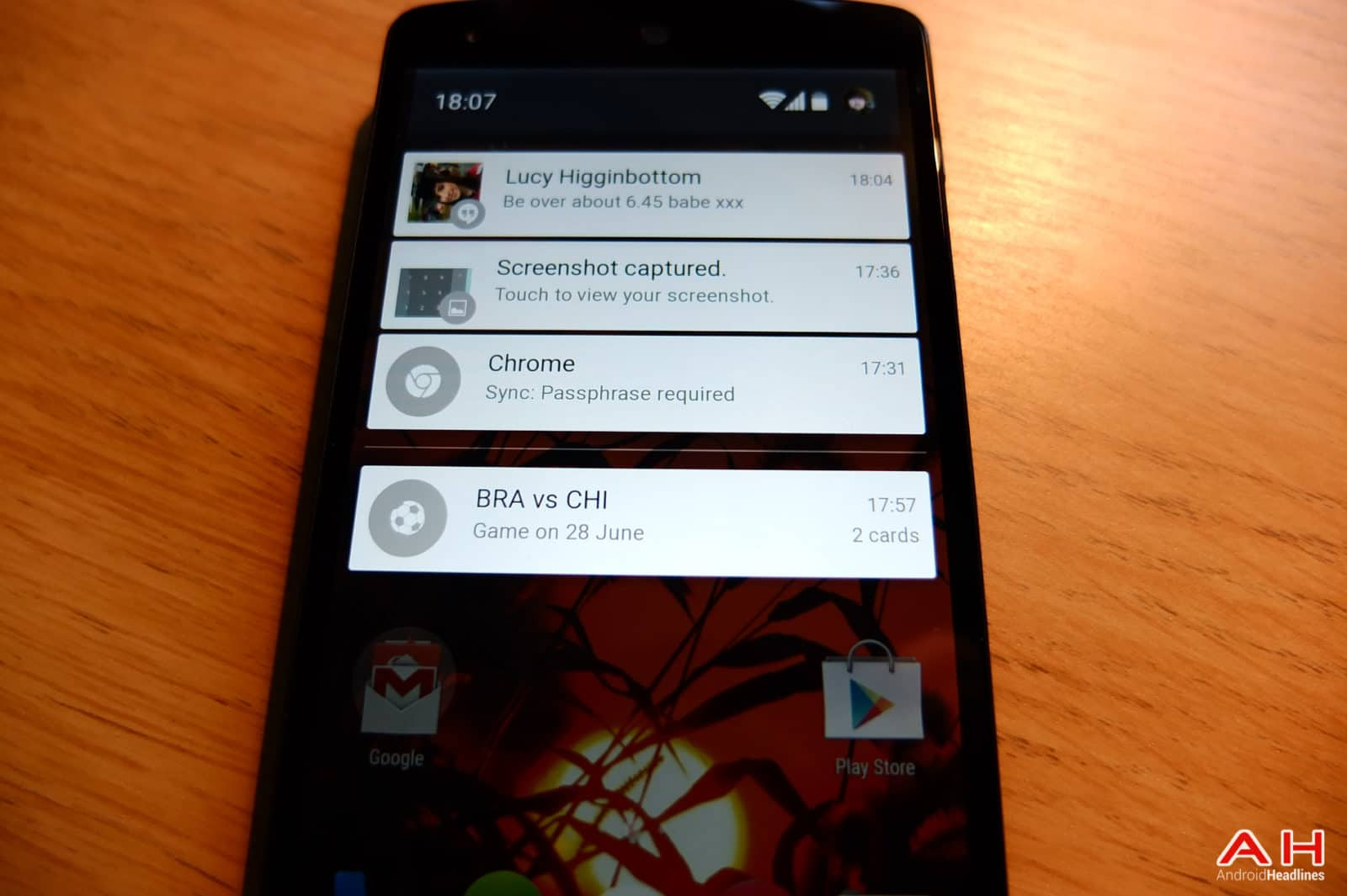 Android L AH-10 CArds