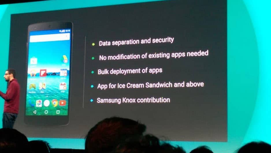 Android L and Samsung KNOX