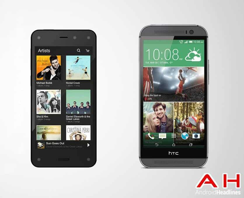 Fire Phone vs HTC One M8 Picture