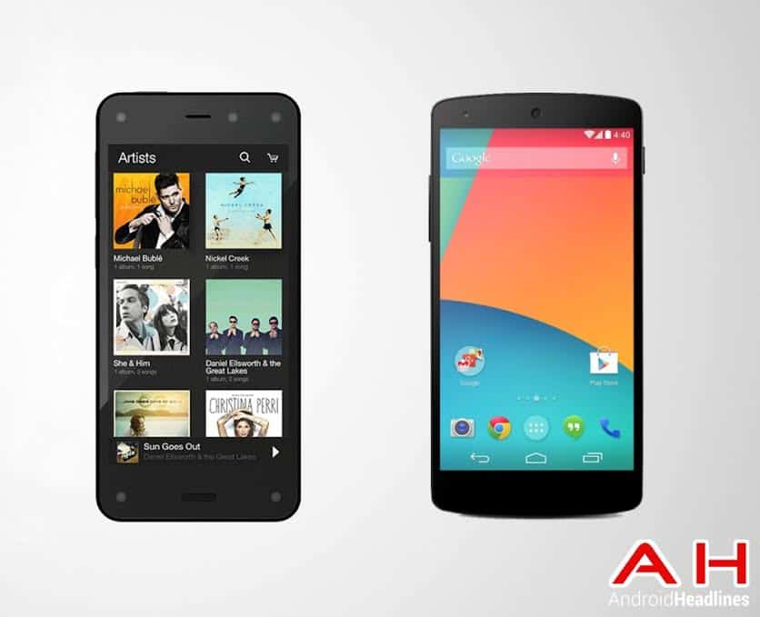 Fire Phone vs Nexus 5 Phone