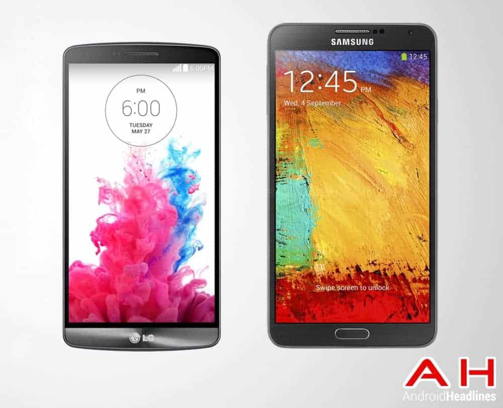 LG G3 Vs Samsung Galaxy Note 3 2014