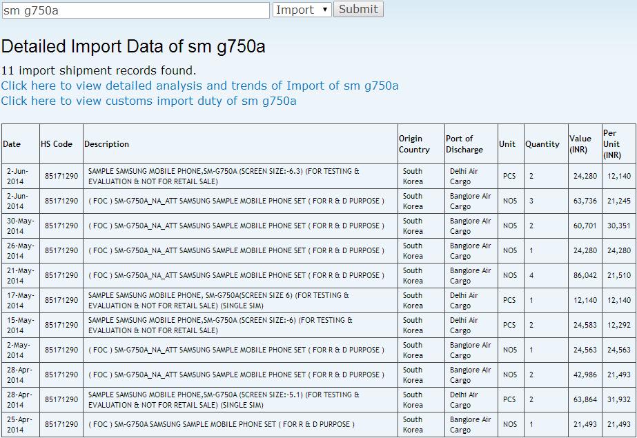 SM-G750A Shipping Galaxy Mega 2