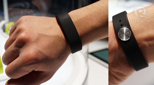 Sony Smartband on Wrist