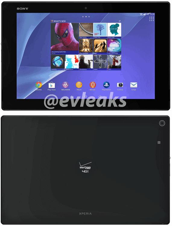 Sony Xperia Z2 Tablet Verizon