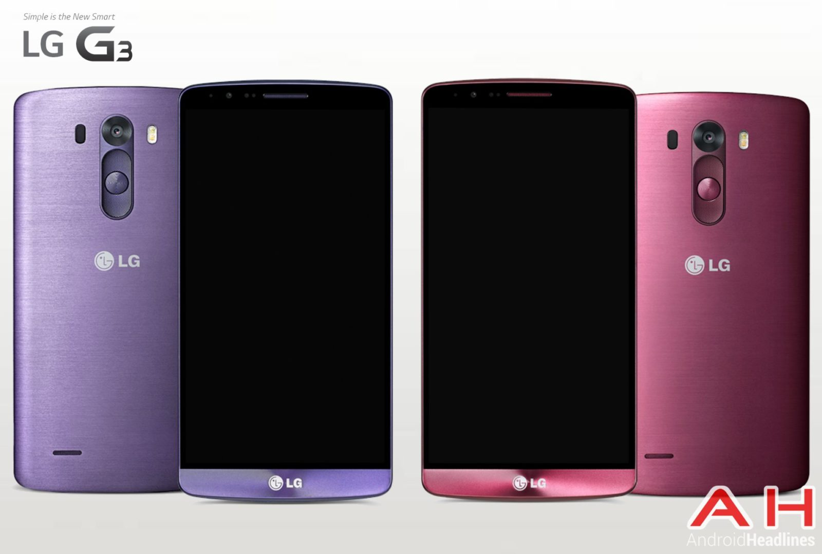 AH LG G3 Moon Violet and Burgundy Red