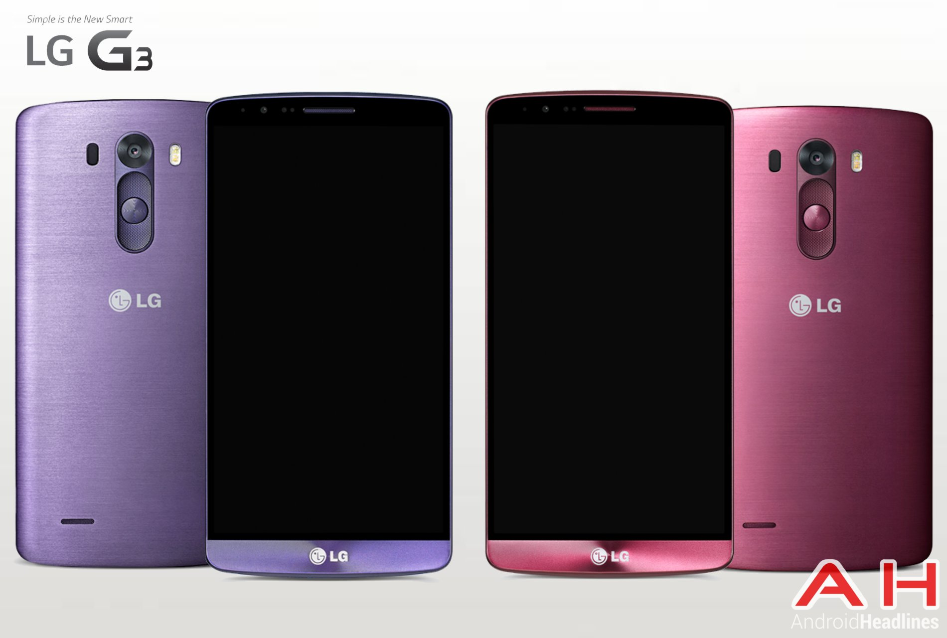 Breaking: New Colors For The LG G3 Surface With Moon Violet And Burgundy Red