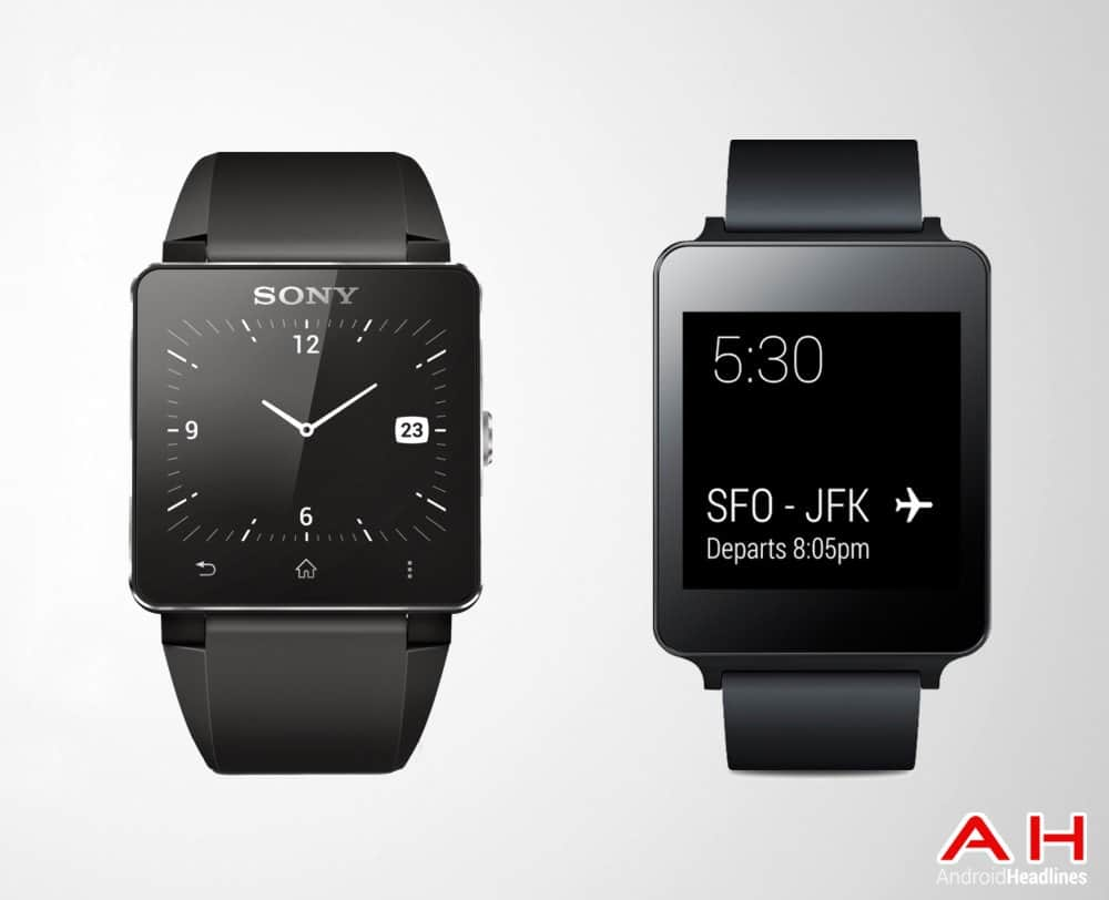Smartwatch Comparisons: LG G Watch vs Sony SmartWatch 2