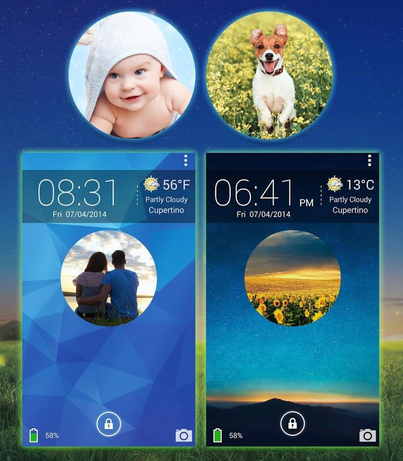 Galaxy Photo Screen Lock Main