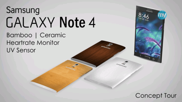 New Galaxy Note 4 Concept Beauty in Bamboo and Ceramic Versions