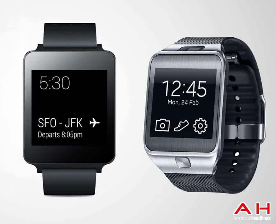 LG G Watch vs Samsung Gear 2 Picture