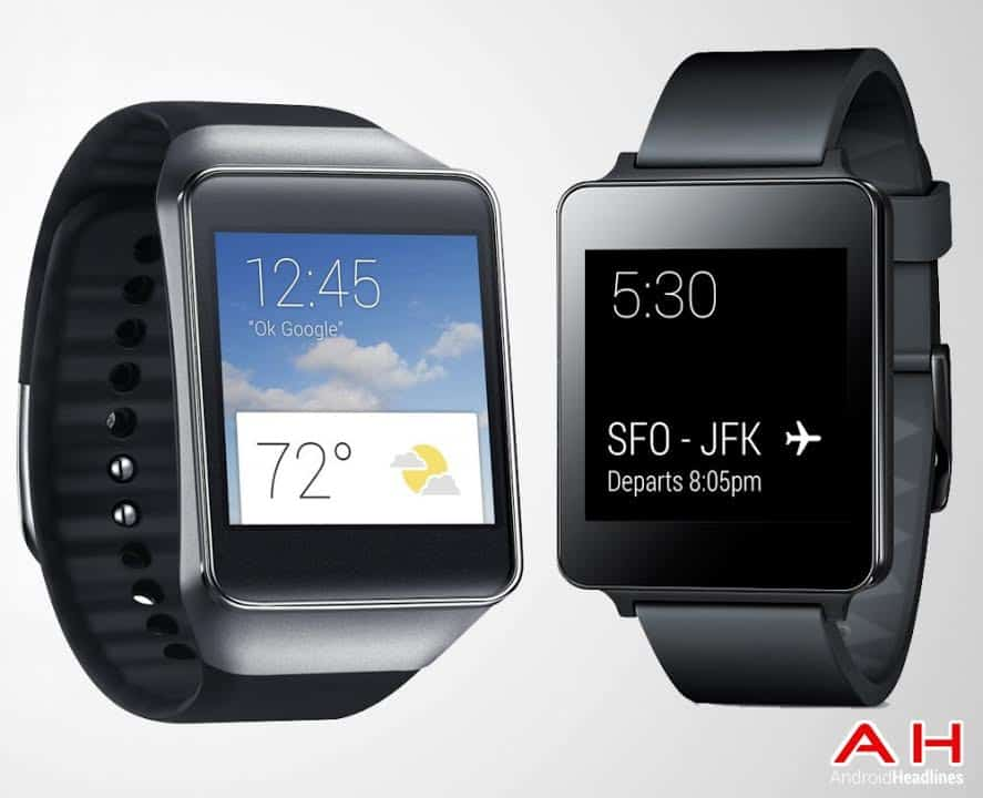 LG G Watch vs Samsung Gear Live Picture