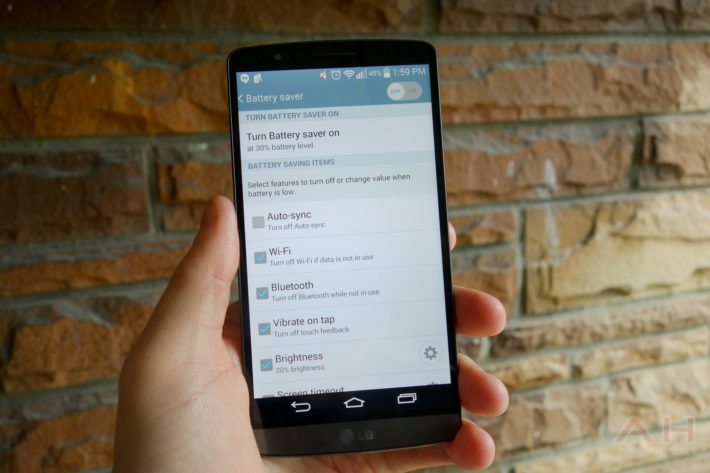Android How to: Use Battery Saver on the LG G3