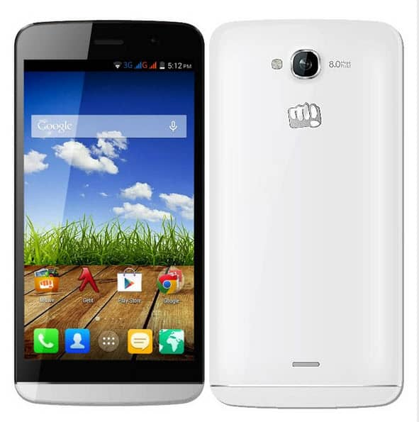 Micromax Canvas L A108 Front & Back