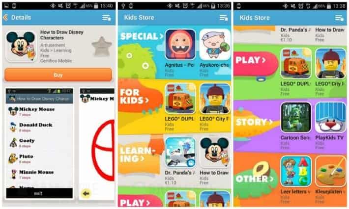 Samsung Kids Store Collage